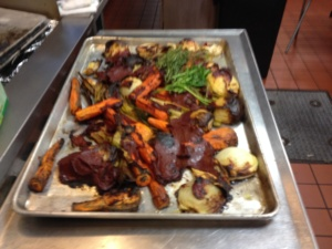 roasted vegetables for veal stock