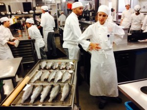 Trouts, reading for the drying room