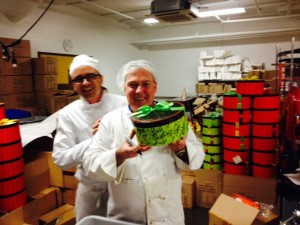 Ray and Jacques at the 'chocolate factory'