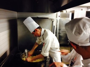 Chef Ben working the fried rice
