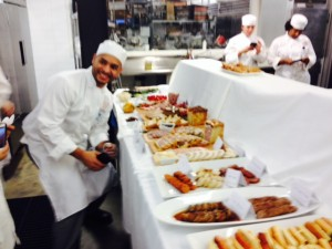 Luis and the inspiring charcuterie display