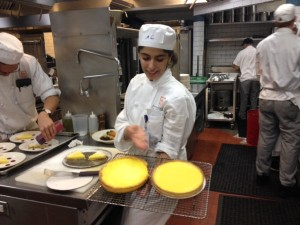 Dalal and her two tarts. The first tart didn't make the grade.