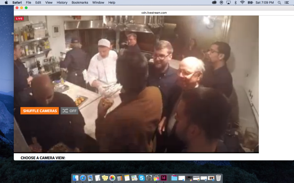 """The """"kitchen cam"""" at the James Beard House"""
