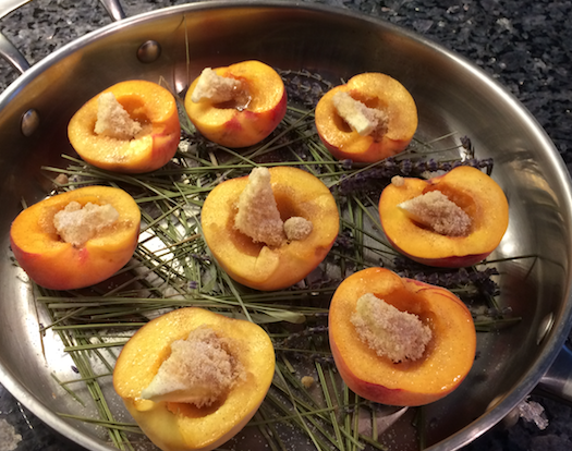 Baked Lavender Infused Peaches