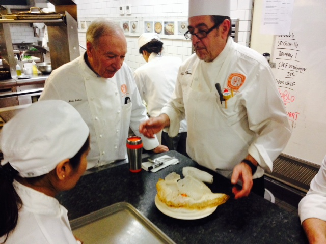 Dolma getting accolades from the chef, in front of Chef Sayhac - the dean of the school!!!!!!!!