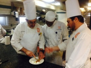 """Chef Joe and Chef Dominic notice Pablo's """"slightly over cooked"""" tart"""