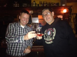 Sharing an armagnac with Chef Dominique