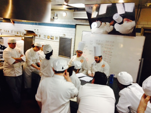 The chefs giving us our evaluations.
